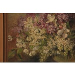 Image of Antique Oil Painting - Bouquet In A Glass Vase