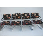 Image of Milo Baughman Cantilever Chrome Chairs - Set of 4