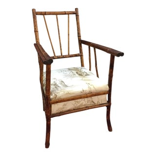 Antique English Victorian Brighton Bamboo Chair