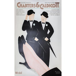 """1986 Seymour Chwast """"Charters & Caldicott"""" Lithograph Poster"""