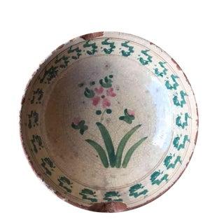 Antique Ceramic Bowl From Puglia, Italy