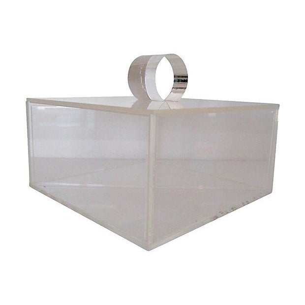 Image of Lucite Box With Lid and Compartments