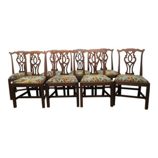 Antique Chippendale Style Dining Chairs - Set of 8