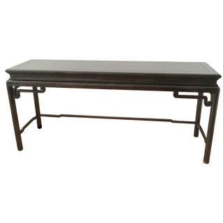 Ming-Style Dark Wood Console