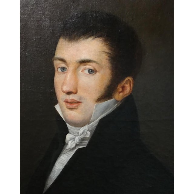 18th Century Portrait Oil Painting - Image 3 of 10