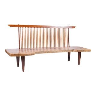 Exceptional Walnut Slab Freeform Oversized Bench