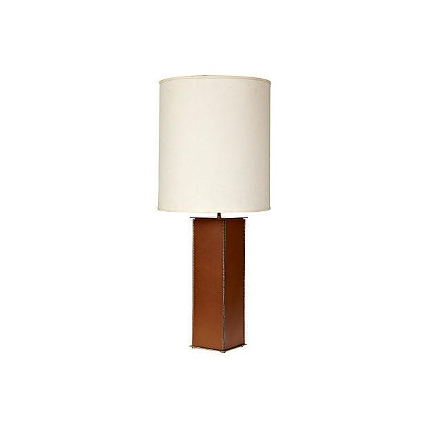 1970's Leather-Based Lamp - Image 1 of 8