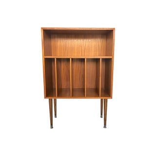 Danish Modern Record Bookcase & Stand