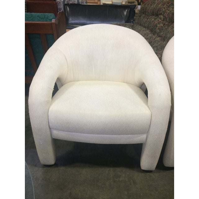 Image of Thayer Coggin Style Barrel Back Parson Chair - A Pair