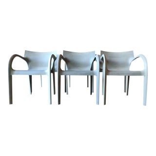 Set of 6 Italian Stacking Chairs by Bartoli