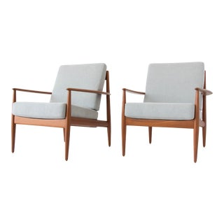 Pair of Teak Lounge Chairs by Grete Jalk for France & Son