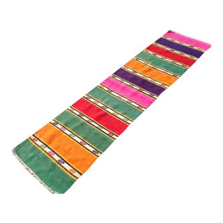Vintage Turkish Kilim Runner- 1′11″ × 9′2″