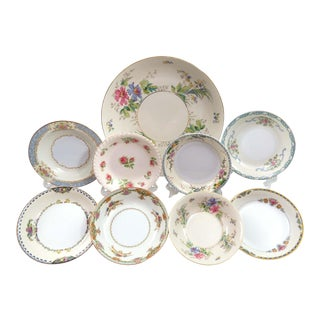 Vintage Mismatched China Serving Bowls - Set of 9
