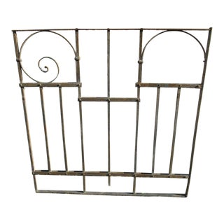 Antique Victorian Iron Gate Window Garden Fence Architectural Salvage Door #032