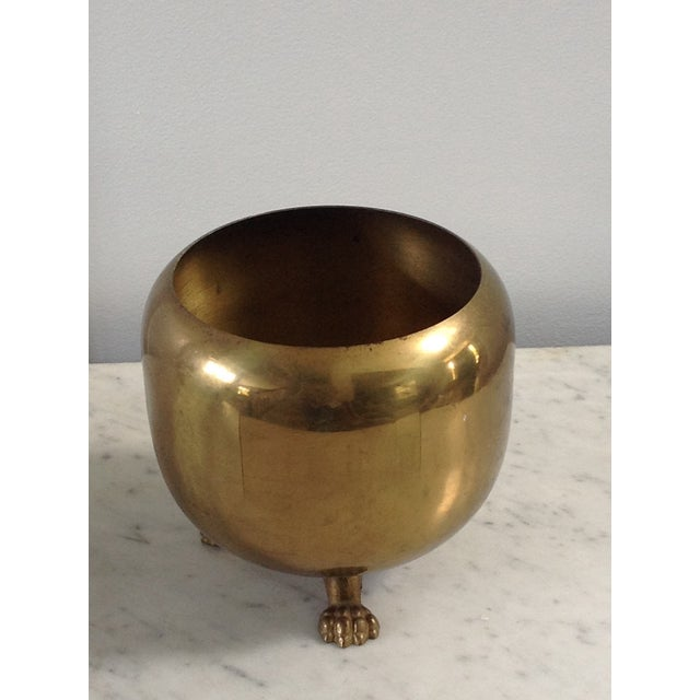 Brass Footed Planter Cachepot - Image 4 of 4