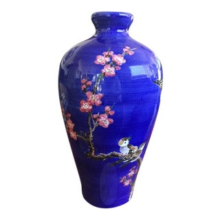 Chinese Hand Painted Blue Vase
