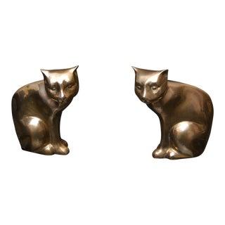 Mid-Century Cat Statues - A Pair