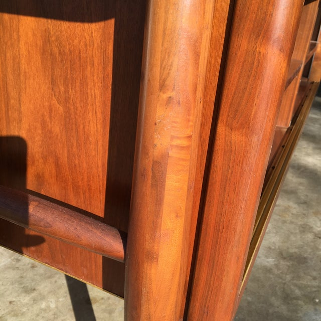 Image of Mid-Century Modern Credenza Buffet Console Floating Top Legs