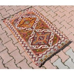 Image of Anatolian Tribal Embroidered Kilim Area Rug -2′6″ × 3′10″
