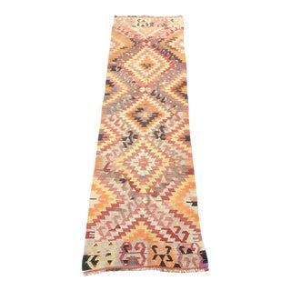 Hand Woven Kilim Handmade Runner - 2'7''x8'5''