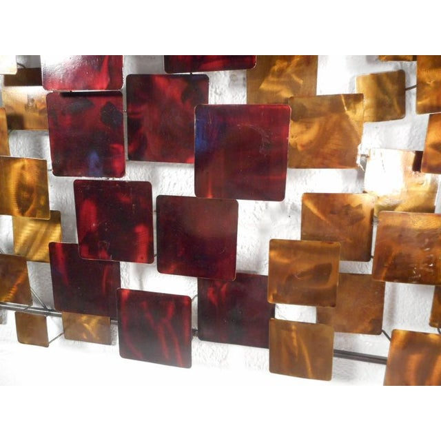 Contemporary Modern Curtis Jere Style Metal Wall Art - A Pair - Image 5 of 6