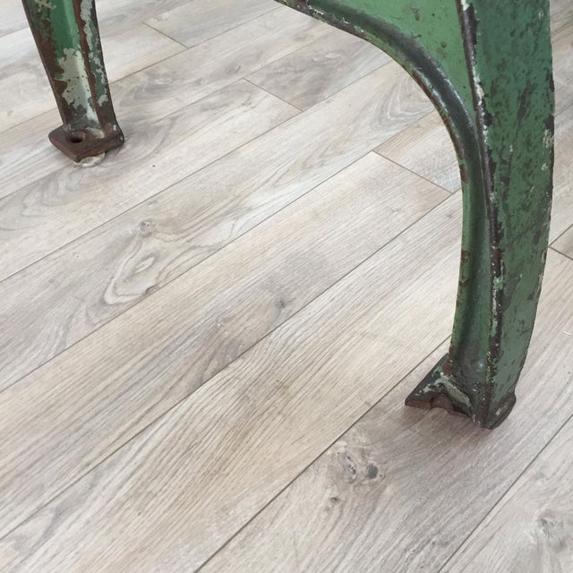 Cast Iron Base Reclaimed Wood Dining Table - Image 6 of 7