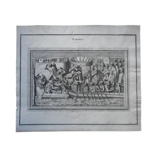 Naval Battle Engraving