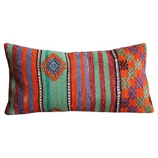 Woven Tribal Bolster Pillow Cover