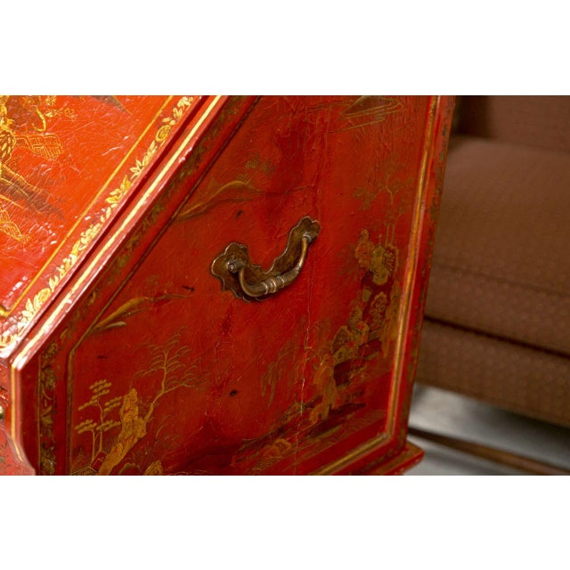 Antique 19th Century Painted Chinoiserie Vanity - Image 4 of 10