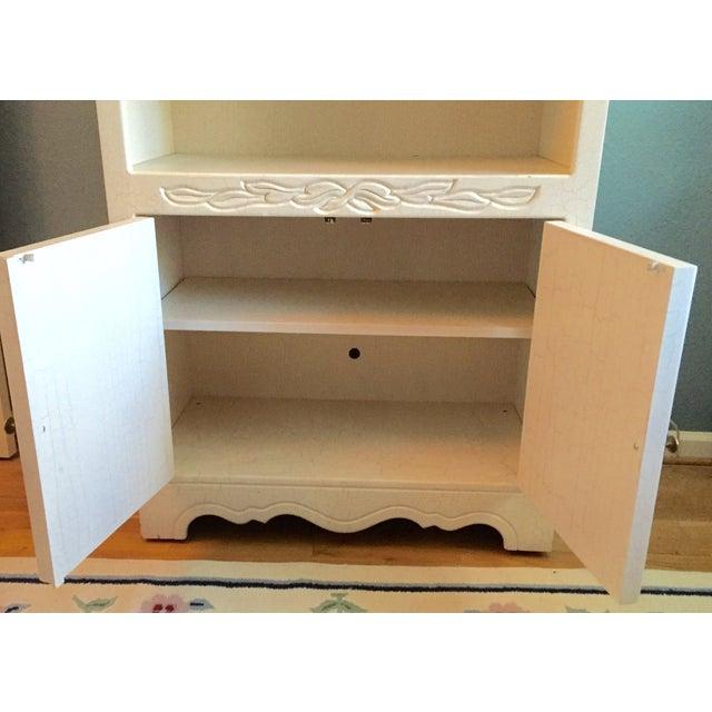 Crackle Kitchen Cabinets: Custom White Crackle Glaze Shabby Chic Cabinet