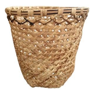 Hand Woven Rattan Waste Basket