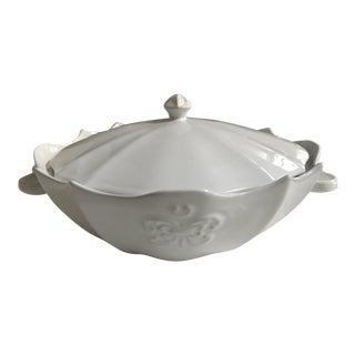 Antheor Large Covered Scalloped Serving Bowl