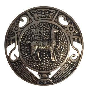 Vintage Sterling Peruvian Llama Pin