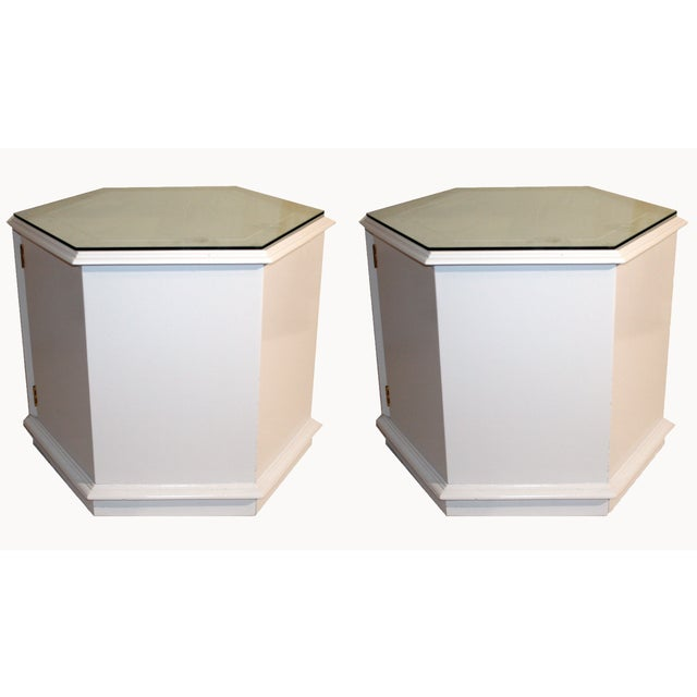 Vintage Lane Hexagon End Tables Pair Chairish