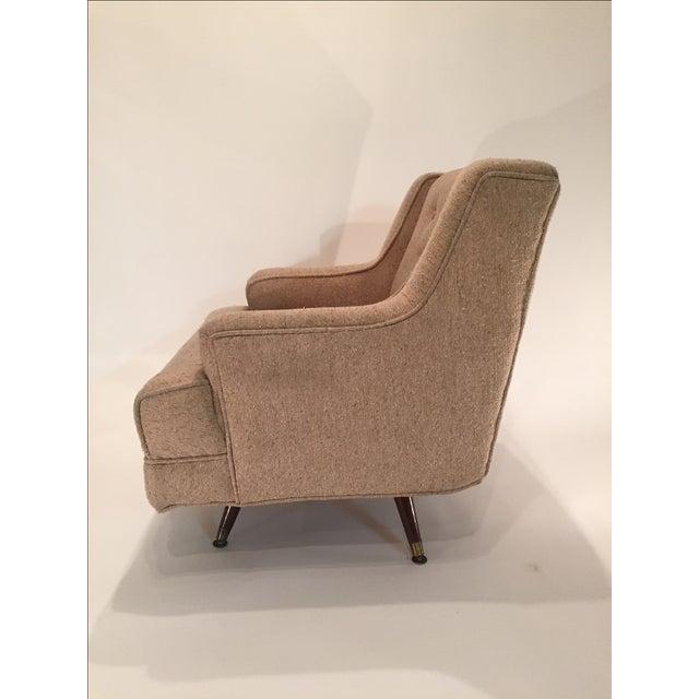 Image of Mid-Century Swivel Club Chair