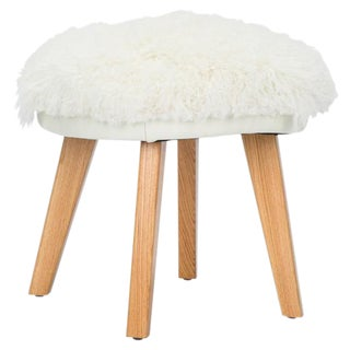 Jaxon Home Gunnison White Wool Stool