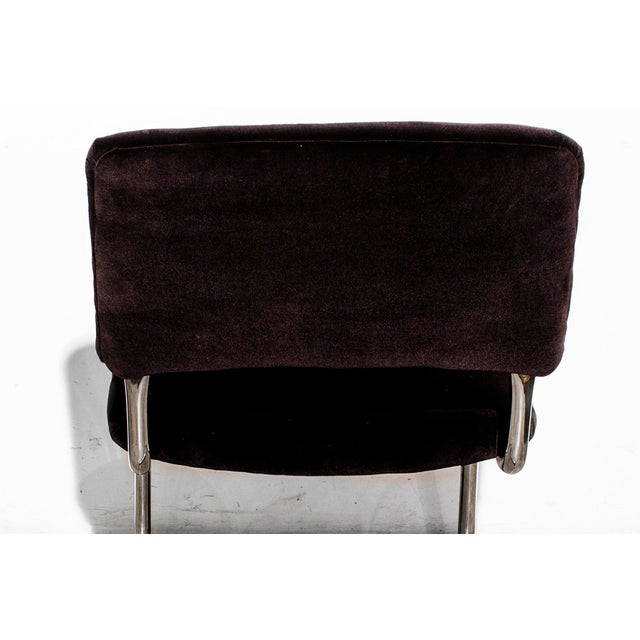 Image of Steelcase Brown Micro-Velvet Cantilever Side Chair