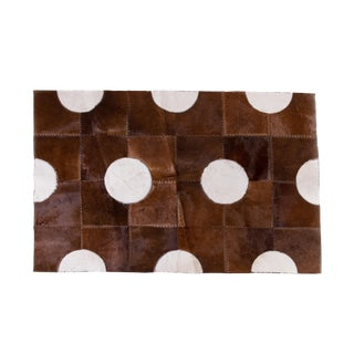 """Aydin Cowhide Patchwork Accent Area Rug - 5'1"""" x 7'7"""""""