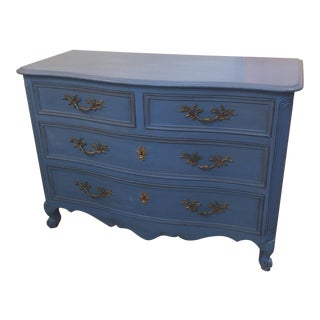 Blue French Provincial Chest