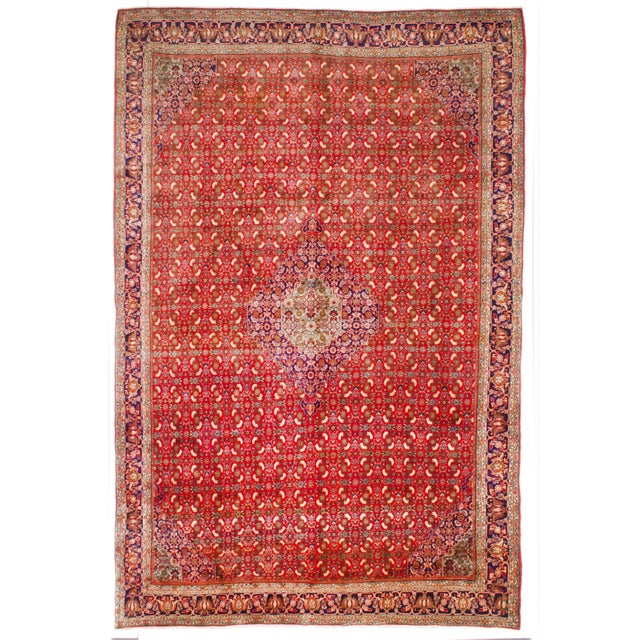 "Image of Vintage Bijar Persian Rug- 7'8"" X 11'5"""