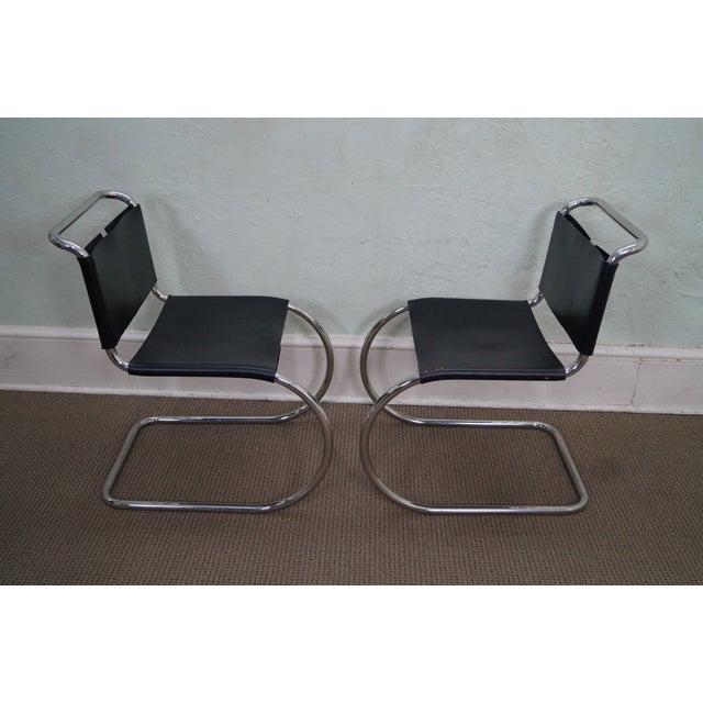 Knoll Mies Van Der Rohe Side Chairs - A Pair - Image 3 of 10
