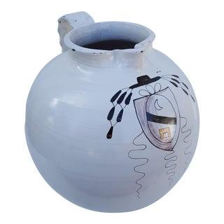 Italian Overscale Decorative Ceramic Vase .