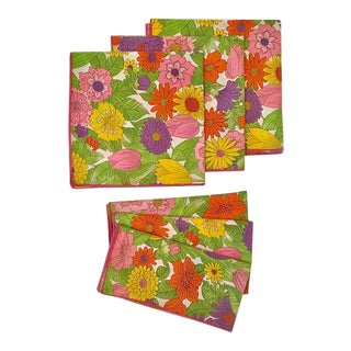 Mod Vibrant Floral Napkins - Set of 6