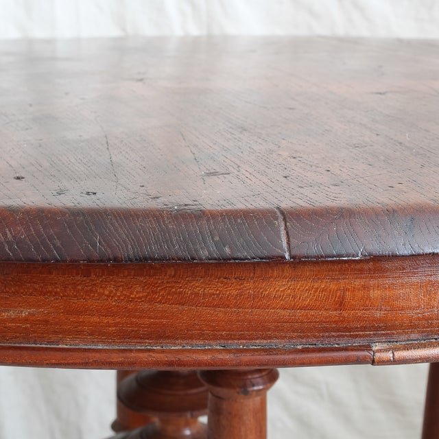 Antique 19th C. Dutch Colonial Teak Entry Table - Image 7 of 11