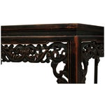 Image of Sarreid Ltd Asian Carved Wood Console Table
