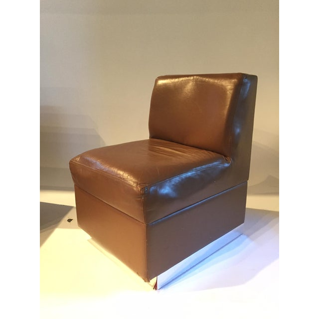 1970s Gucci Leather Slipper Chairs - a Pair - Image 5 of 8