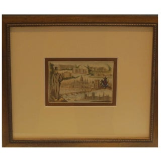 Early 1900s Framed French City Card, London