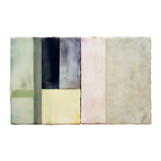 Abstract Pastel Encaustic Painting by Paul Rinaldi