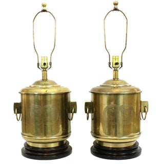 Vintage Frederick Cooper Brass Lamps - A Pair