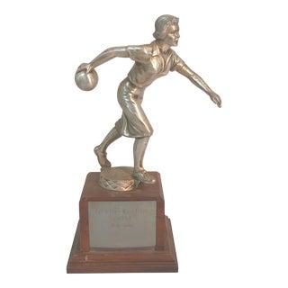 Vintage Women's Bowling Trophy
